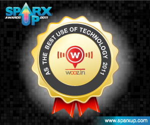 Wooz.in is the winner of SparX Up Awards 2011 for the Best Use of Technology Category